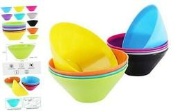 20 Ounce Plastic Bowls, Large Cereal Snack Bowls Unbreakable