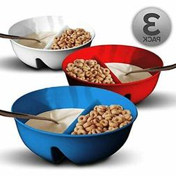 3 Pack - Just Crunch Anti-Soggy Cereal Bowl Keeps Fresh &amp