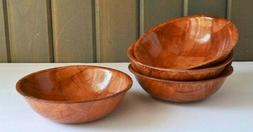 Wooden Cereal Snack Bowls Lightweight Formosa Woven Wood Vin