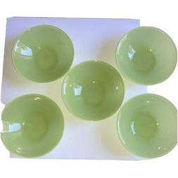 ARC FRANCE GREEN GLASS SOUP CEREAL BOWLS