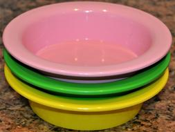 Pottery Barn kids SPRING BRIGHTS discontinued Melamine Bowls