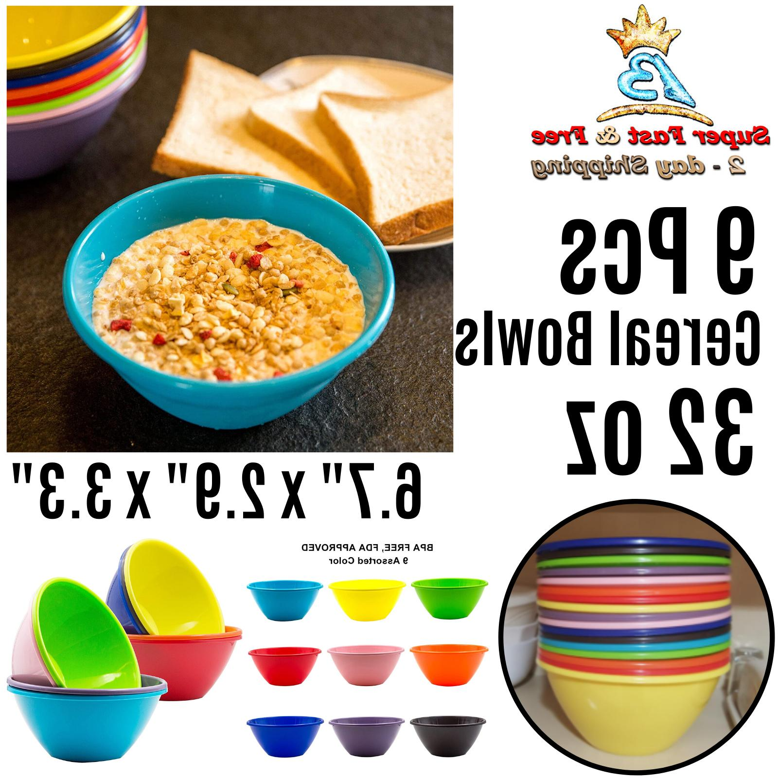 plastic cereal soup bowls large 32 ounce