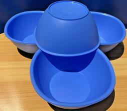 Tupperware Legacy Cereal Bowls Set of 4 Small 13oz Blue New