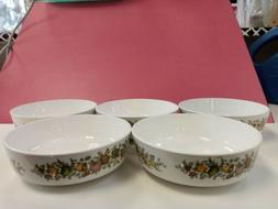 """Lot Of 5 Corning Ware Centura """"Spice Of Life"""" Cereal Bowls"""