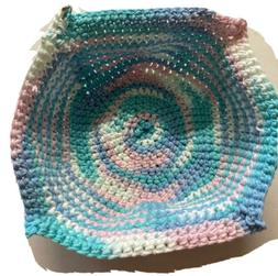 Microwave Bowl Crochet Cozy Soup Cereal Bowl Handmade Multic