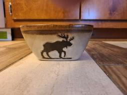 Moose Themed Ceramic Cereal Sized Bowls ALSO GREAT 4 DISPLAY