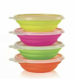 NEW TUPPERWARE Mini NEON Kids classic cereal set play snack