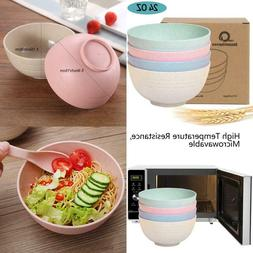 Shopwithgreen Unbreakable Cereal Bowls - 24 Oz Wheat Straw F